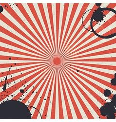 Red sunburst background vector