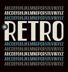 Sans serif font in retro style vector image