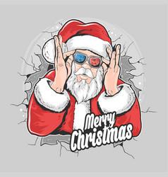 Santa claus christmas artwork element vector