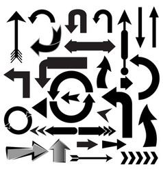 set black arrow on white background vector image
