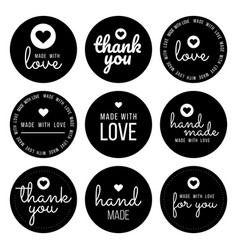 set labels and bages for sellers including thank vector image