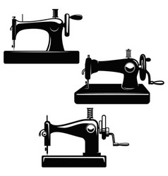 set of sewing machine design element for poster vector image