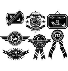 Set of vintage label collection 2 vector