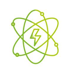 silhouette energy hazard symbol of power industry vector image