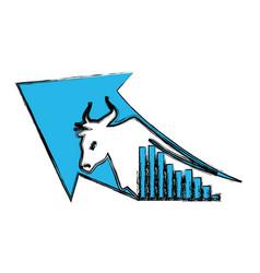 Stock market bull symbol vector