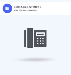 telephone icon filled flat sign solid vector image