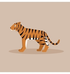 Tiger Flat vector image