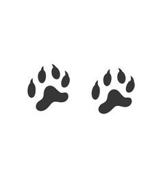 Tiger footprint vector