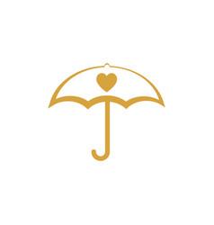 umbrella icon design template isolated vector image