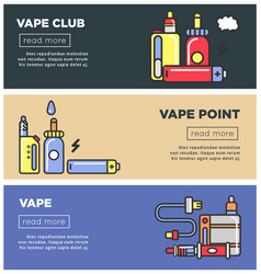 Vape point club informative internet pages vector