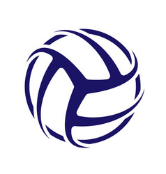 volleyball blue wallpaper vector image