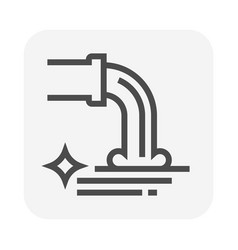 waste water icon vector image