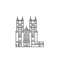 Westminster Abbey attraction vector image