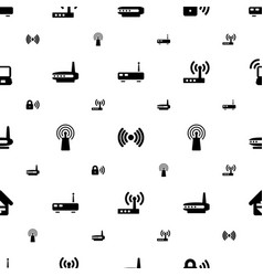 wifi icons pattern seamless white background vector image