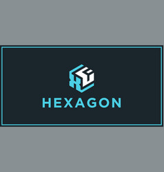 Xf hexagon logo design inspiration vector