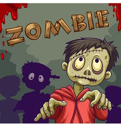 Zombie walking in group vector