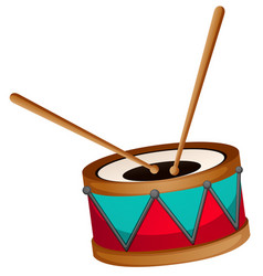 drum with two sticks vector image vector image