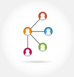 social icon group element flirtation intern vector image vector image