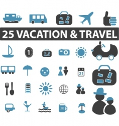 travel signs vector image vector image