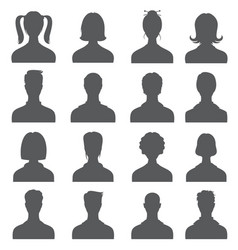 anonymous face people heads silhouettes vector image vector image