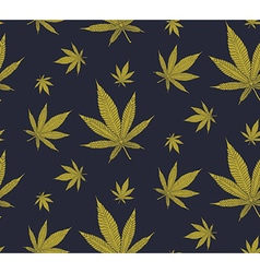 Cannabis pattern vector image