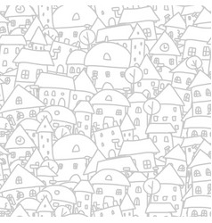 city sketch seamless pattern for your design vector image