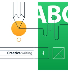 Creative writing and storytelling education vector image vector image