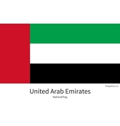 National flag of united arab emirates with correct vector