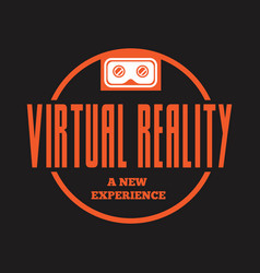 isolated vr headset logotype virtual reality vector image