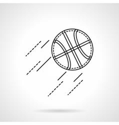 Basketball flat line icon vector image