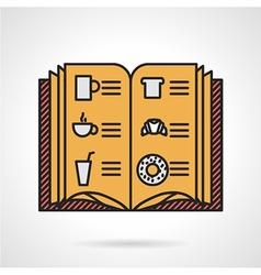 Cafe menu flat icon vector image