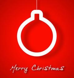 Christmas ball applique background vector image vector image