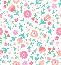 Colorful floral print pattern vector image vector image