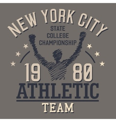 New York Athletic Team vector image vector image