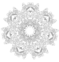 ornamental castle from a fairy tale vector image vector image