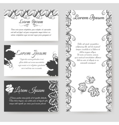 Personal card with grape leaves vector