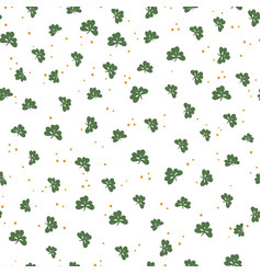 saint patricks day seamless pattern clover leaf vector image vector image