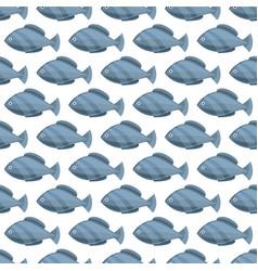 seamless vintage fish drawings pattern vector image vector image