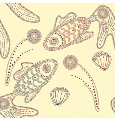 vector henna fishes vector image