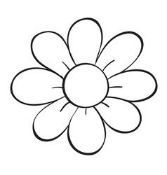 A flower sketch vector