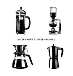 Alternative coffee brewing vector