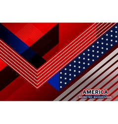 american flag geometric background vector image