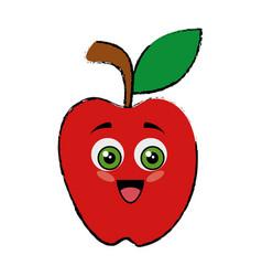 Apple funny cartoon vector