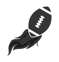 Ball football american isolated vector