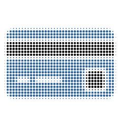 bank card halftone icon vector image