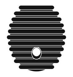 Beehive icon simple style vector