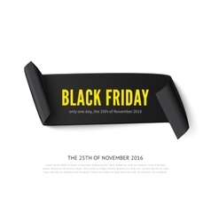 Black Friday curved paper banner vector image