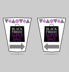 black friday super sale flyer vector image