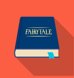 Book with fairytales icon in flate style isolated vector