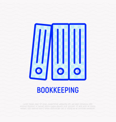 Bookkeeping symbol stack of folders line icon vector